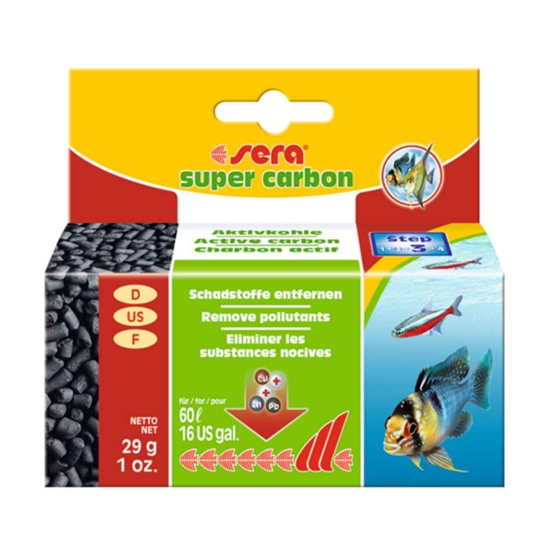 Sera Super Carbon 29g SERA 4001942068543 Bactéries, conditionneurs d'eau
