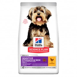 Croquettes Hill's Small & Mini Sensitive Stomach & Skin Poulet 3 kg HILL'S 052742008264 Croquettes Hill's