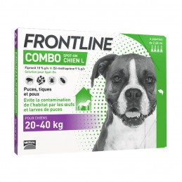 Combo Chien Frontline 20-40 kg  FRONTLINE  Pipettes