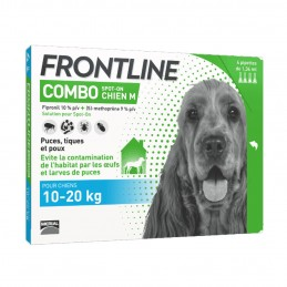 Combo Chien Frontline 10-20 kg 4 Pipettes