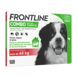 Combo Chien Frontline 40-60 kg 4 Pipettes