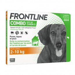 Combo Chien Frontline 2-10 kg 4 pipettes