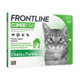 Frontline Combo Chat FRONTLINE  Pipettes et spray