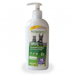 Shampooing antiparasitaire anti-odeur Actiplant ACTIPLANT 3760118012346 Shampooings